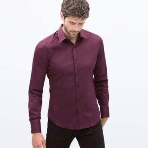 Zara Man long sleeve button dress shirt
